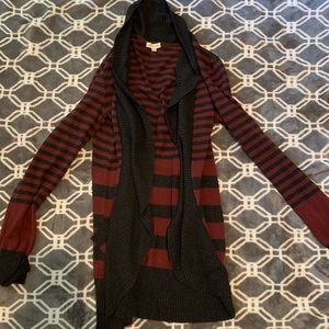 Silence + Noise UO Striped Open Cardigan